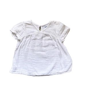 Old Navy white muslin top 18-24 months